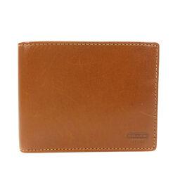 コーチ ロゴ型押し 二つ折り財布(小銭入れなし)メンズ