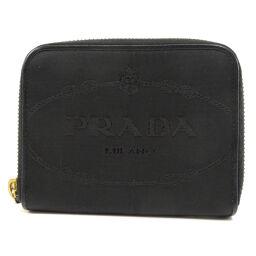 プラダ ロゴ 二つ折り財布(小銭入れあり)レディース