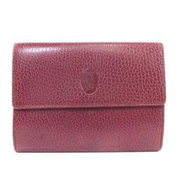 カルティエ マストライン 二つ折り財布(小銭入れあり)レディース
