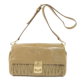 Miu Miu Logo Motif Shoulder Bag Ladies