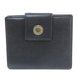 ブルガリ ロゴ金具 二つ折り財布(小銭入れあり)ユニセックス