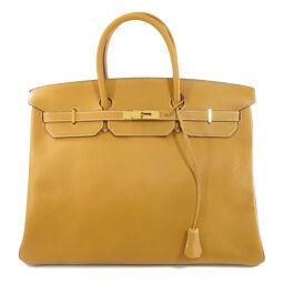 Hermes Birkin 40 Gold Hardware Natural Handbag Ladies