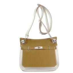 Hermes Gypsier 28 Silver Hardware Craft Pearl Gray Shoulder Bag Ladies