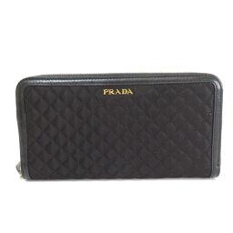 Prada logo long wallet (with coin purse) ladies
