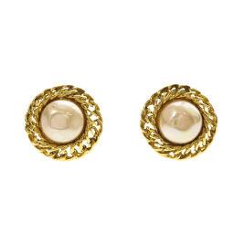 Chanel Faux Pearl Earrings Womens