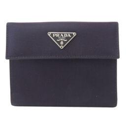 プラダ M523 ロゴプレート 二つ折り財布(小銭入れあり)レディース