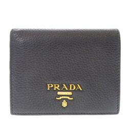 Prada logotype bi-fold wallet (with coin purse) unisex