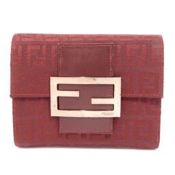 Fendi Zucca Pattern Two-folded wallet (with coin purse) Ladies
