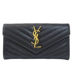 Saint Laurent logotype long wallet (with coin purse) Ladies