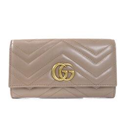 グッチ 443435 GGマーモント 長財布(小銭入れあり)レディース