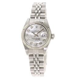 <html>    <body>   ロレックス 79174NG デイトジャスト 10P ダイヤモンド 腕時計 OH済レディース        </body> </html>