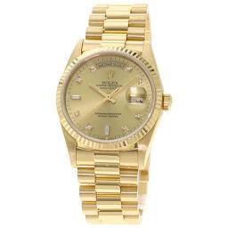 <html>    <body>   ロレックス 18238A デイデイト 10P ダイヤモンド 腕時計 OH済メンズ        </body> </html>