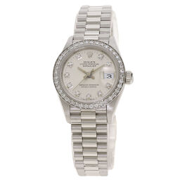 Rolex 69136G Datejust 10P Bezel Diamond Watch Overhauled Ladies