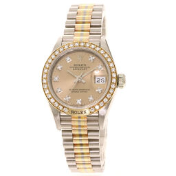 Rolex 69149G BIC Datejust Tridor 10P Diamond Watch OH Finish Women