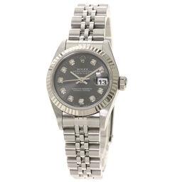 Rolex 69174G Datejust 10P Diamond Watch OH already Ladies