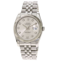 Rolex 116234G Datejust 10P Diamond Watch Men's