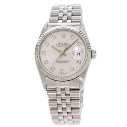 <html>    <body>   ロレックス 16234G デイトジャスト 10P ダイヤモンド 腕時計メンズ        </body> </html>