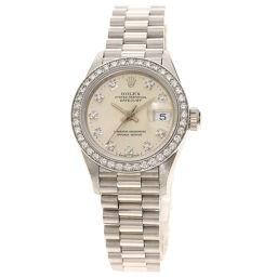 ロレックス 69136G デイトジャスト 10P ダイヤモンド 腕時計 OH済レディース