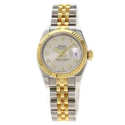 ロレックス 179173G デイトジャスト 10P ダイヤモンド 腕時計レディース