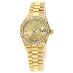 Rolex 79138G Datejust 10P Diamond Wrist Watch OH Finished Ladies