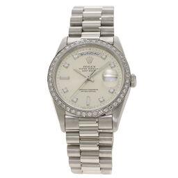 <html>    <body>   ロレックス 18346A デイデイト 10P ダイヤモンド 腕時計 OH済メンズ        </body> </html>