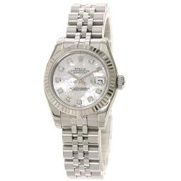 <html>    <body>   ロレックス 179174NG デイトジャスト 10P ダイヤモンド 未使用品 腕時計レディース        </body> </html>