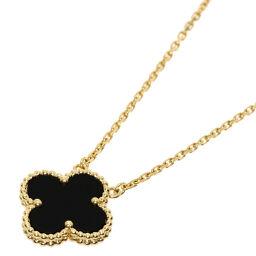 Van Cleef & Arpels Vintage Alhambra Onyx Necklace Ladies