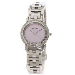 Hermes CL4.230 Clipper Nacre Watch Ladies