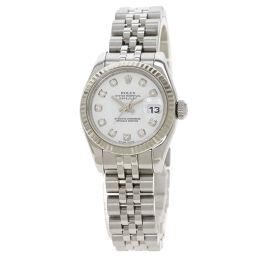Rolex 179174G Datejust 10P Diamond Watch Overhauled Ladies
