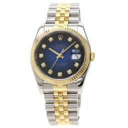 Rolex 116233G Datejust 10P Diamond Watch Men's