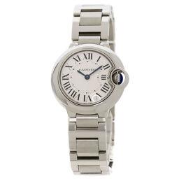 Cartier W69010Z4 Baron Blue 28mm Watch Ladies