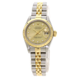 Rolex 69173G Datejust 10P Diamond Watch Overhauled Ladies
