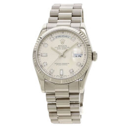 Rolex 118239A Day-Date 10P Diamond Wrist Watch OH Completed Men's