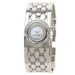 Gucci YA112 Bezel Diamond Watch Ladies