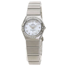 Omega 123.15.24.60.55.005 Constellation Diamond Bezel Watch OH Completed Ladies