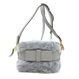 Miu Miu 5BH082 Ribbon Motif Shoulder Bag Ladies