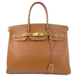 Hermes Birkin 35 Gold Hardware Gold Handbag Ladies