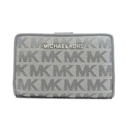 <html>    <body>   マイケルコース ロゴプリント 二つ折り財布(小銭入れあり)レディース        </body> </html>