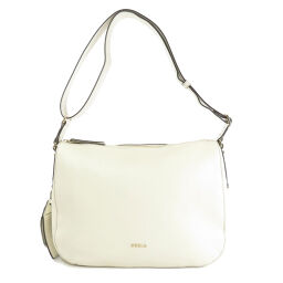 Furla logo motif shoulder bag ladies