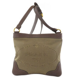 Prada BT0537 logo motif shoulder bag ladies
