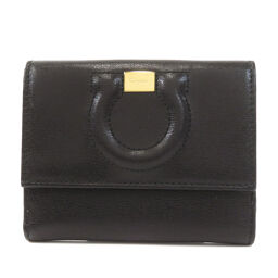 Salvatore Ferragamo Gancini Two-folded wallet (with coin purse) Ladies
