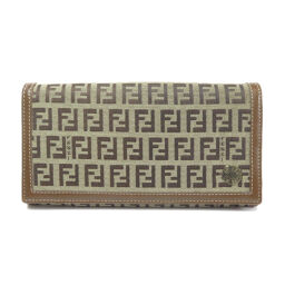 Fendi Zucca Pattern Purse (with coin purse) Ladies