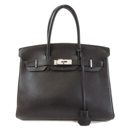 Hermes Birkin 30 Taurillon Black Black Handbag Ladies