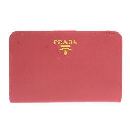 プラダ 1M1225 ロゴモチーフ 二つ折り財布(小銭入れあり)レディース