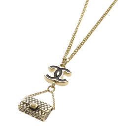 Chanel Bag & Coco Mark Motif Necklace Ladies