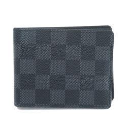 Louis Vuitton N63261 Portofeuil Slender Damier Graffit Bi-Fold Wallet (with coin purse) Men's