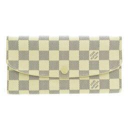ルイヴィトン N63546 ポルトフォイユ・エミリー ダミエ アズール 長財布(小銭入れあり)レディース