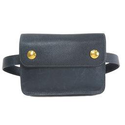 Hermes Pochette Green Kushbel Hip Bag / Waist Bag Ladies