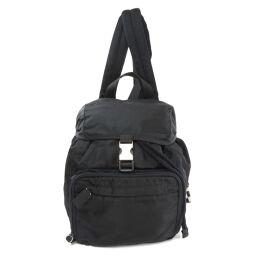 Prada logo motif backpack daypack ladies