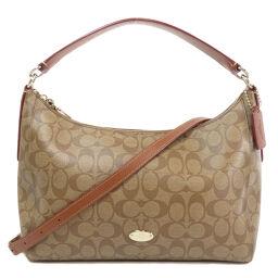 COACH F34899 2WAY Signature Shoulder Bag Ladies